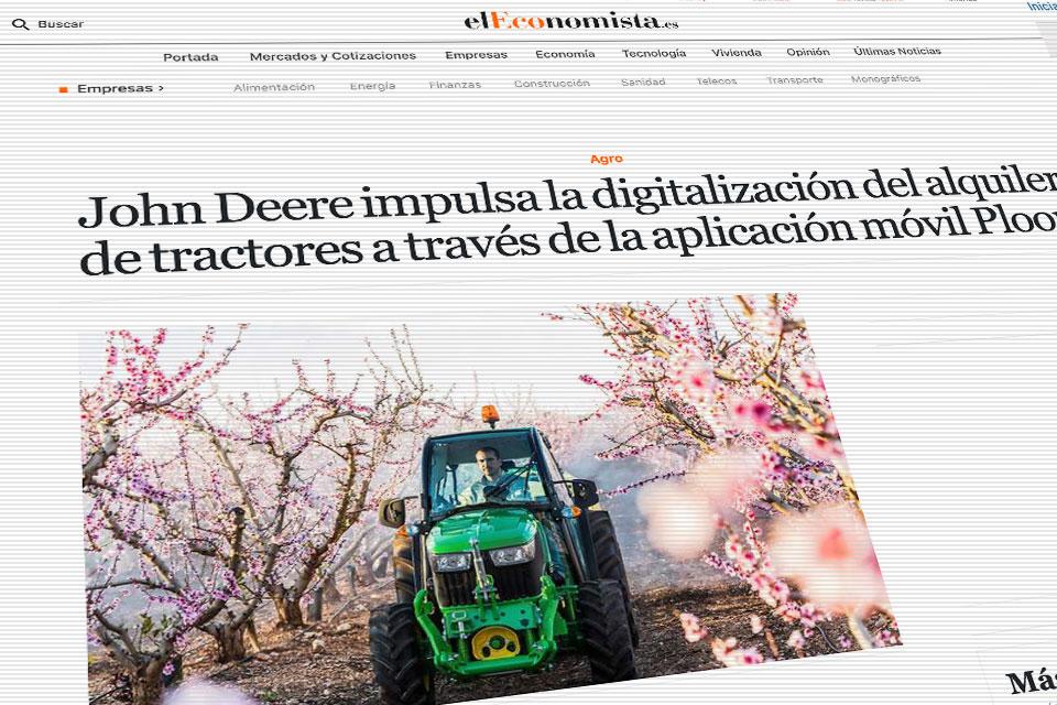 John Deere impulsa la digitalización alquiler de tractores