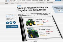 El Mundo: Nace el tractorsharing en España con John Deere